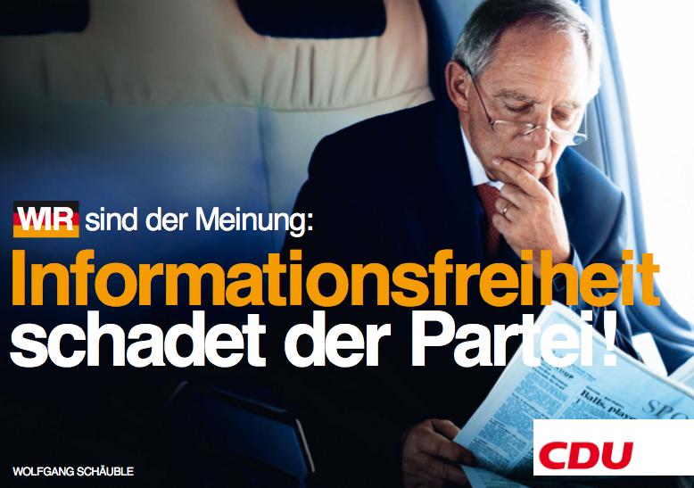 CDU - Informationsfreiheit schadet der Partei!