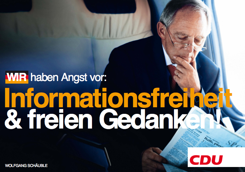 CDU - Angst von Informationsfreiheit und freien Gedanken!