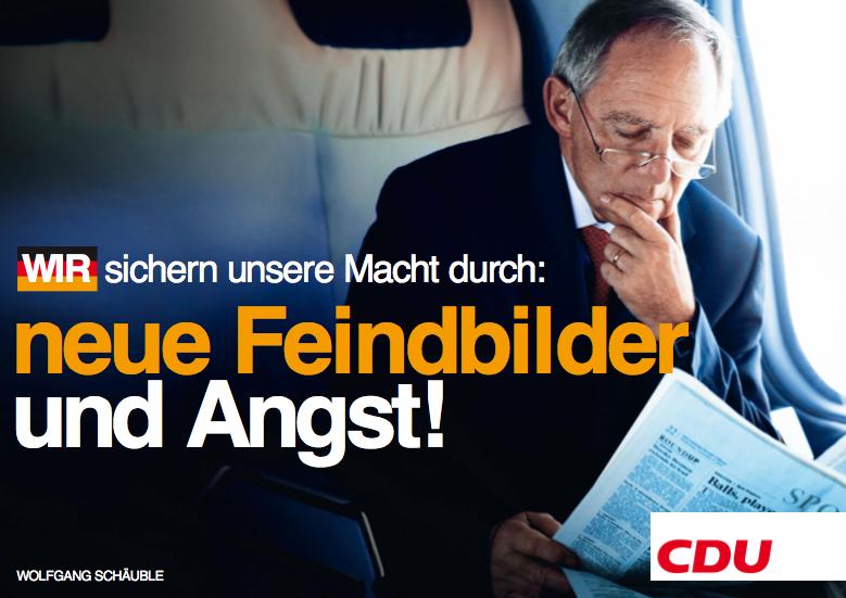 CDU - Neue Feindbilder und Angst!